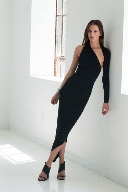 Black evening dress / Вечернее платье на выпускной из итальянского джерси