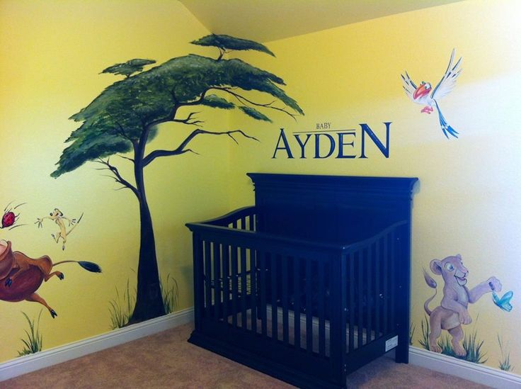 Lion King Nursery Murals By Whitney Pinterest Trees