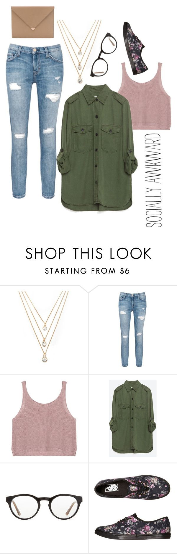"""""""///that awkward moment between birth and death\\\"""" by adriannaslokis ❤ liked on Polyvore featuring moda, Forever 21, Current/Elliott, Zara, Illesteva, Vans e Alexander Wang"""