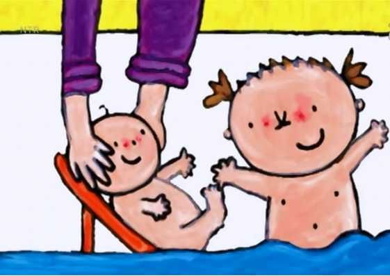 Digitaal prentenboek kleuters, baby, Kaatje en haar broertje