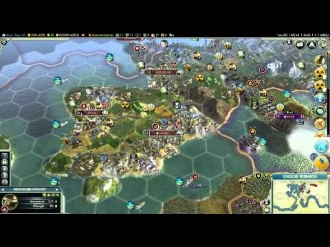 Let's Play Civilization 5 (Huge Earth Gameplay) - Part 43