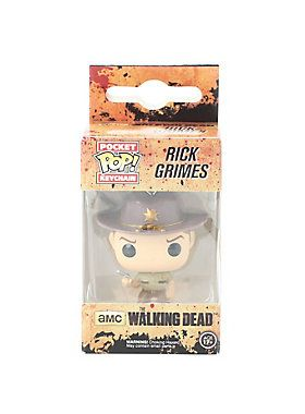 Rick Grimes is given a fun, and funky, stylized look as an adorable miniaturized collectible vinyl figure on a keyring!<ul><li> 1 1/2 tall</li><li>Imported </li><li>By Funko</li></ul>