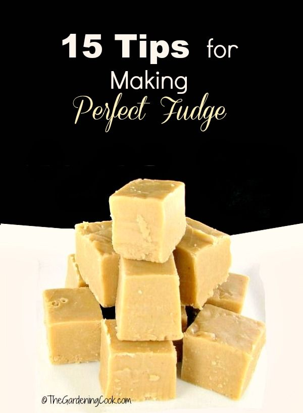 Making fudge is a holiday tradition, until yours does not set well. Follow these 15 tips for making perfect fudge and yours will turn our great every time. thegardeningcook.com