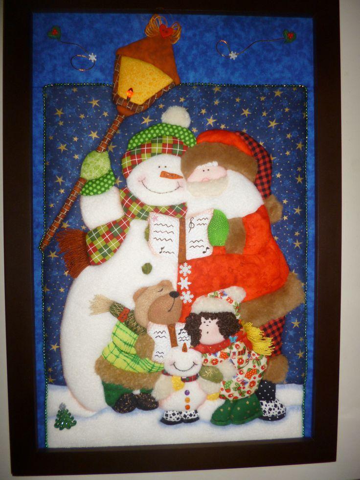 patchwork sin costuras...cuadro navideño...