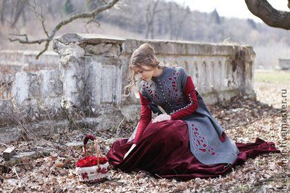 """Пальто """"Сказки Братьев Гримм"""" - орнамент,пальто,средневековое пальто,Дизайнерское пальто"""