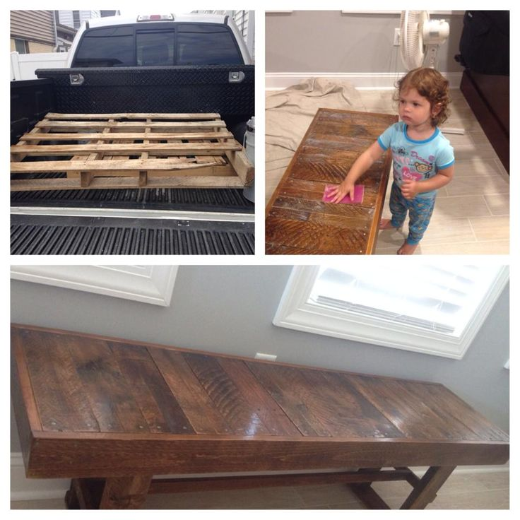 This Table was created by a board member! #pallets #DIY #WhyReStore