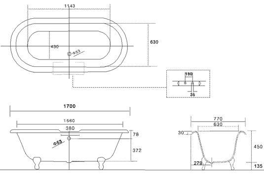 Bathtub dimensions google paie ka standard for Soaking tub dimensions