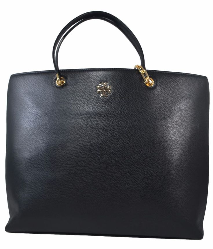NWT Tory Burch Black Frida Tote New Auth Leather tote Large Capacity Bag $528 #ToryBurch #Tote