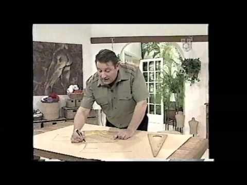 Puntos y Puntadas 203. El perfil del Pantalón. Los 4 tiros del Pantalón. Moldería. - YouTube
