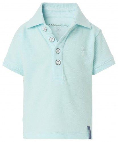 Bluză polo de copii cu mânecă scurtă pentru băieți NOPPIES - aqua