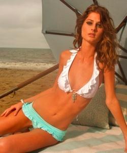 Kushcush wallflower bandeau bikini removed