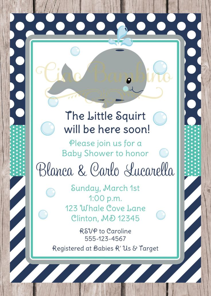 PRINTABLE Whale Baby Shower Invitation / Navy Blue, Gray and Turquoise / You Print - 0025 by ciaobambino on Etsy https://www.etsy.com/listing/222710078/printable-whale-baby-shower-invitation