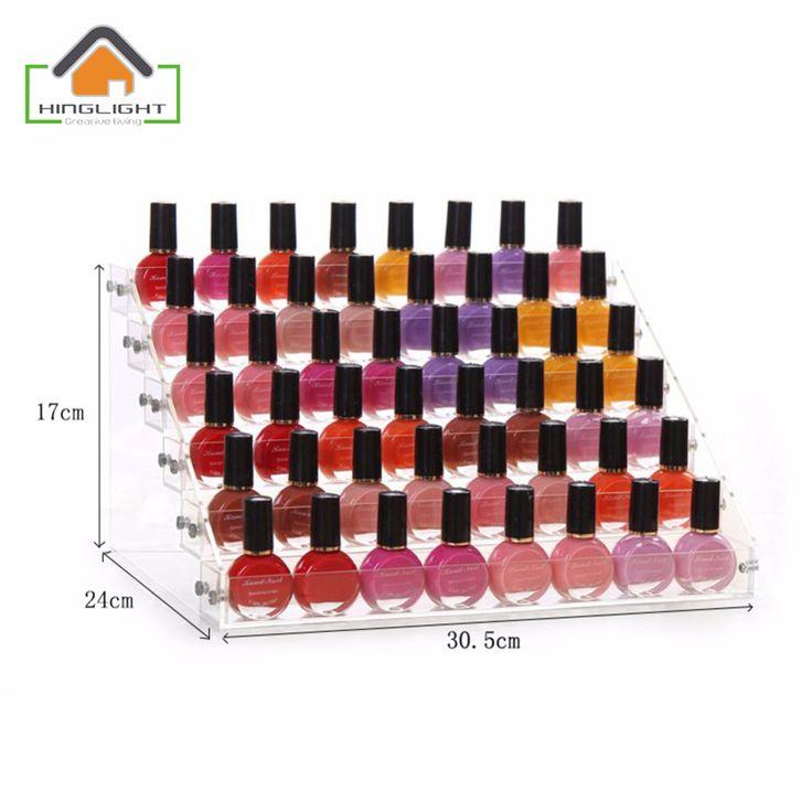 Nail Polish organizer storage box Acrylic makeup storage case cosmetic organizador de maquiagem 2-6 Floor -3