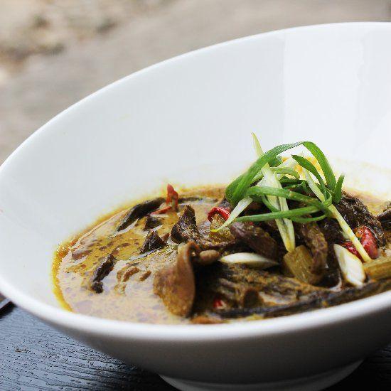 Vegetarian Mushrooms Curry (Indonesian Lempah Kulat Pelawan from Bangka Island).