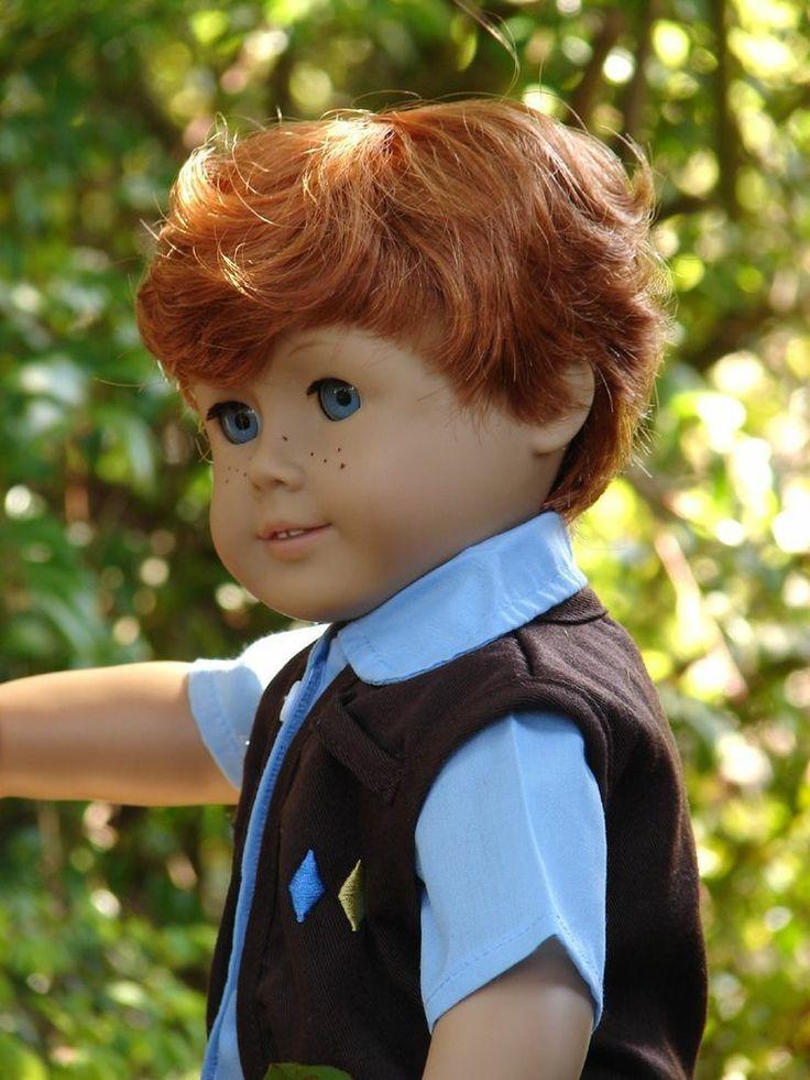 """American Boy Doll Customized Pleasant Co 18"""" Logan"""