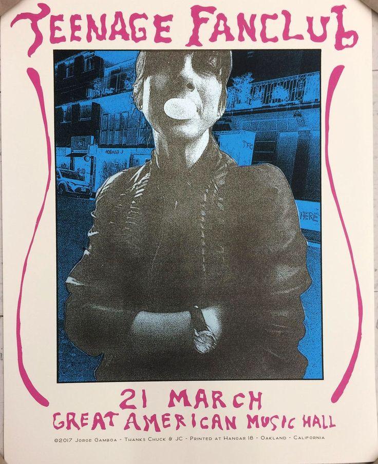 Teenage Fanclub Oakland Poster by Jorge Gamboa