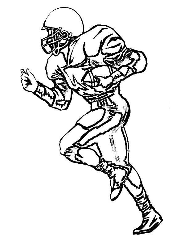 Wide Receiver Football Coloring Pages Football Coloring