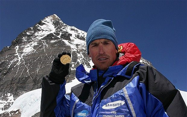 Kenton Cool - London 2012 Olympics: record-breaking climber Kenton Cool takes 1924 Games medal to summit of Mount Everest