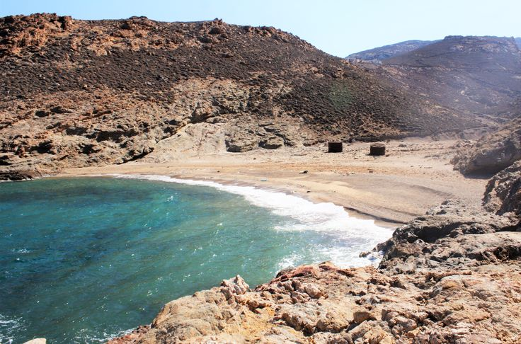 Tragomandra beach. Located next to Merchia beach,past Ano Mera in the direction of Kalafatis. Accessible by car or motorbike via a dirt road.