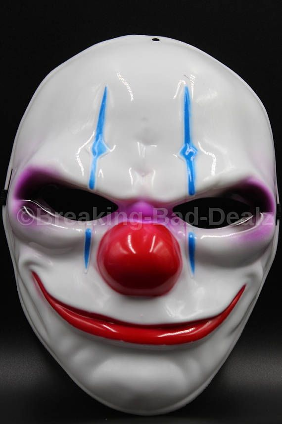 DÍA 2 el traje de máscara del payaso de Joker Heist apoyos