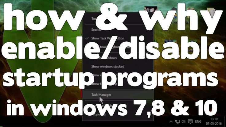 how to disable startup programs