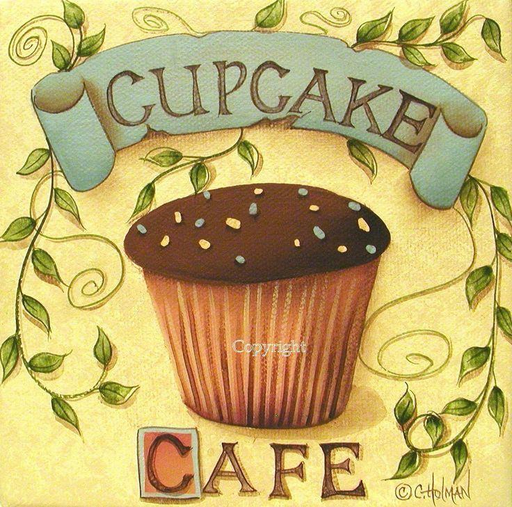 Image detail for -Cupcake Art Print Cupcake Cafe by Catherine Holman