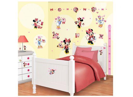Perfect Wandsticker Set Wandaufkleber Kinderzimmer Disney Minnie Mouse Daisy Duck