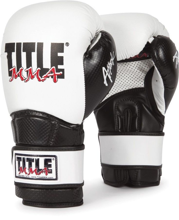 Title MMA Attack Training Gloves muay thai cowhide leather pro black boxing #MMTGE