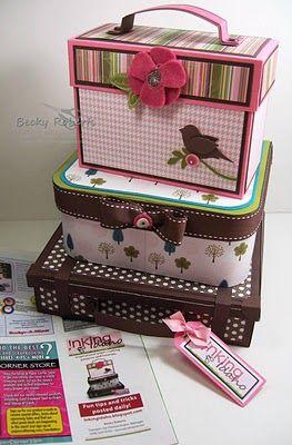 Becky Roberts Tutorial: Make Up Boxes, Caja Scrapbook Tutorials, Gifts Boxes Cakes Idea, Scrapbook Gifts Idea Scrap, Cute Pet, Papercraft And Scrapbook, Robert Tutorials, Paper Crafts, Card Boxes