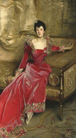 La dama de rojo.