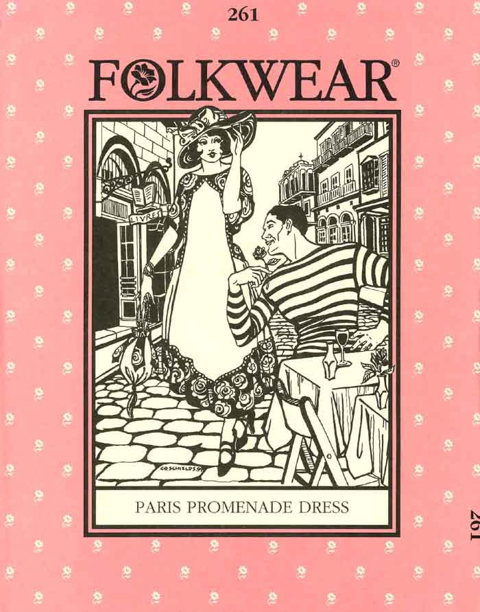 Patterns - Folkwear #261 Paris Promenade Dress.