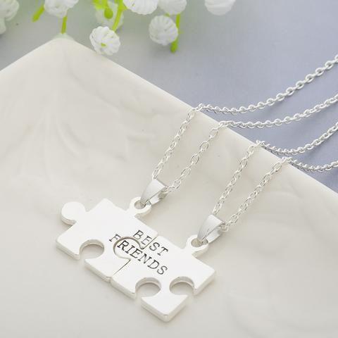 2pcs Puzzles Pendant Necklaces Friendship Necklace Best Friends Forever