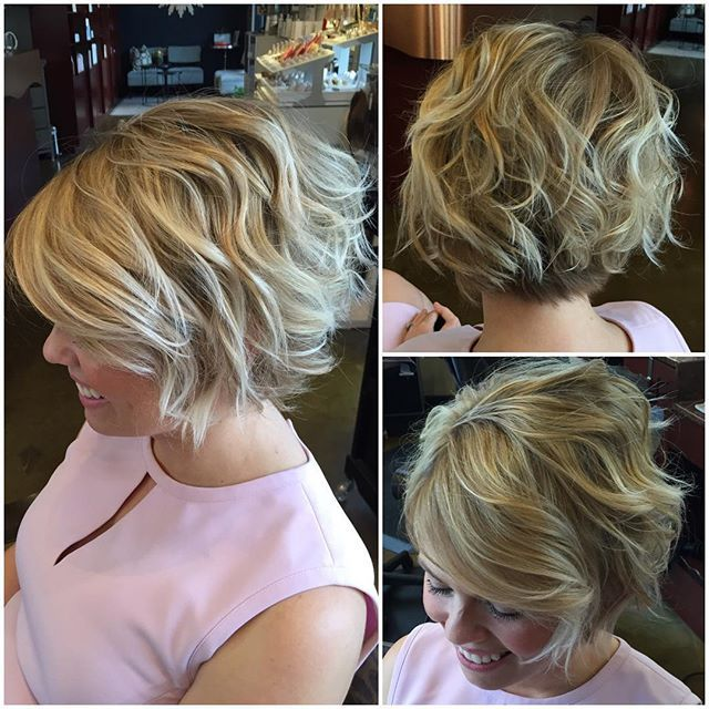 "I love the ""lived in"" looking, textured bobs for summer! Cut and color by me on the beautiful @vicki_rose Best smile ever!!!"