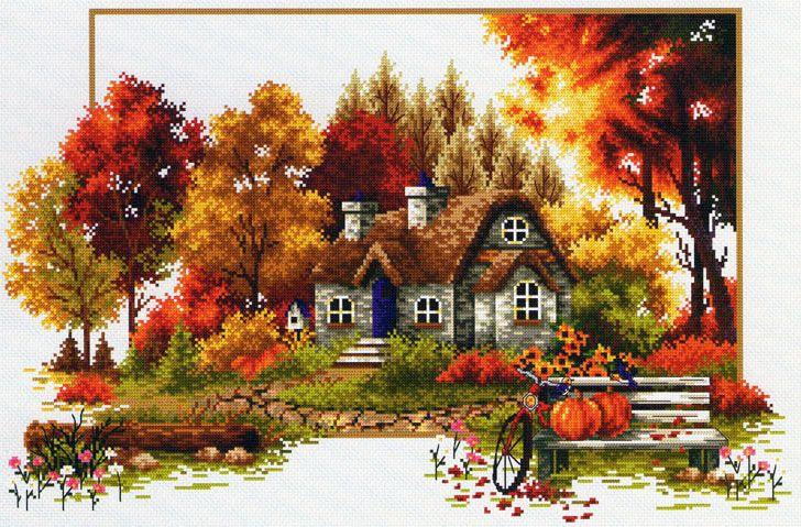 Скачать Вышивка «Autumn story» бесплатно. А также другие схемы вышивок в разделах: , DOME, Case, Autunno, Paesaggio rurale