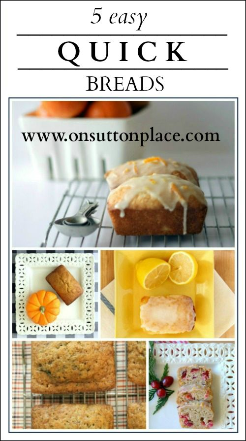 Tried and true recipes for tasty and moist quick breads quickbreads