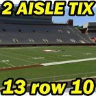 #Ticket  2 AISLE ROW 10: North Carolina @ Florida State FSU Football 10/01 13row10 #deals_us