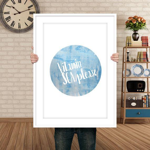 Digital Print  Vitamin Sea Please by WildAtArtDesigns on Etsy