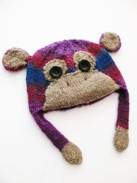 Monkey hat by Yarn-Madness, via Flickr