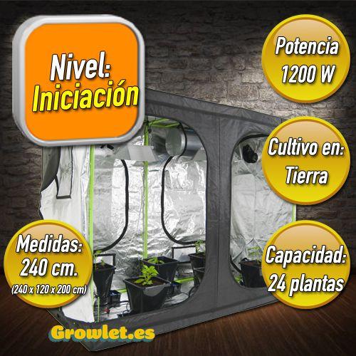 Kit de  Cultivo Interior en Armario de 240 cm. INICIACION