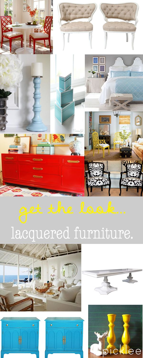 The Lacquered Furniture Look!