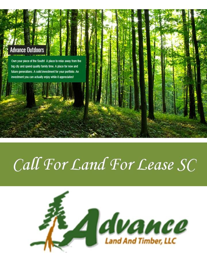 advancelandandtimber.com is the right place for sale and purchase hunting land. You will find long term land use with our lease policy. Call For Land For Lease SC or visit our website: http://www.advancelandandtimber.com/