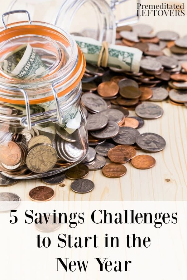 Is saving money one of your New Year's resolutions? Here are 5 savings challenges to start in the New Year to help get your finances on track. Money saving tips and frugal life hacks that work!