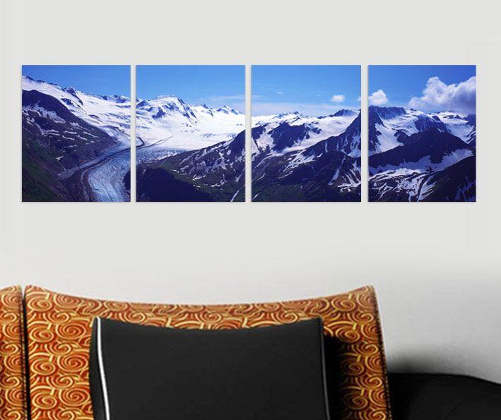 Karlı Dağlar Tablo 4 parçalı tablolar