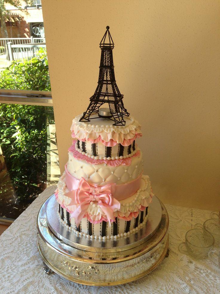 Paris themed baby shower for girl
