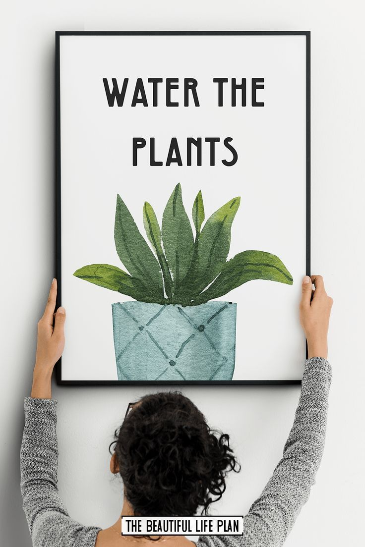 Watercolor Plant Wall Art – Digital Download – Etsy Handmade Styles! PIN FOR PIN BOARD! *