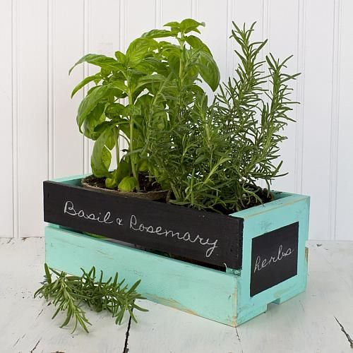 Kitchen Bench Herb Garden: 17 Best Images About Moore: Wood Crates On Pinterest