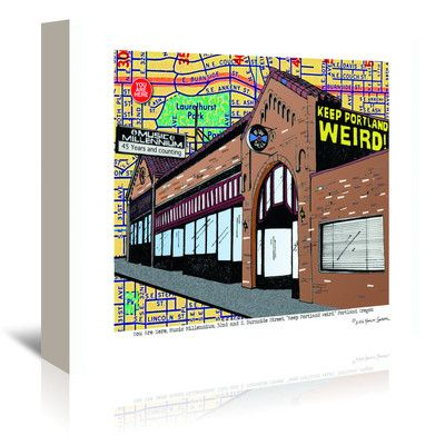 East Urban Home Keep Portland Weird Music Millennium by Lyn Nance Sasser and Stephen Sasser Graphic Art on Wrapped Canvas Size: