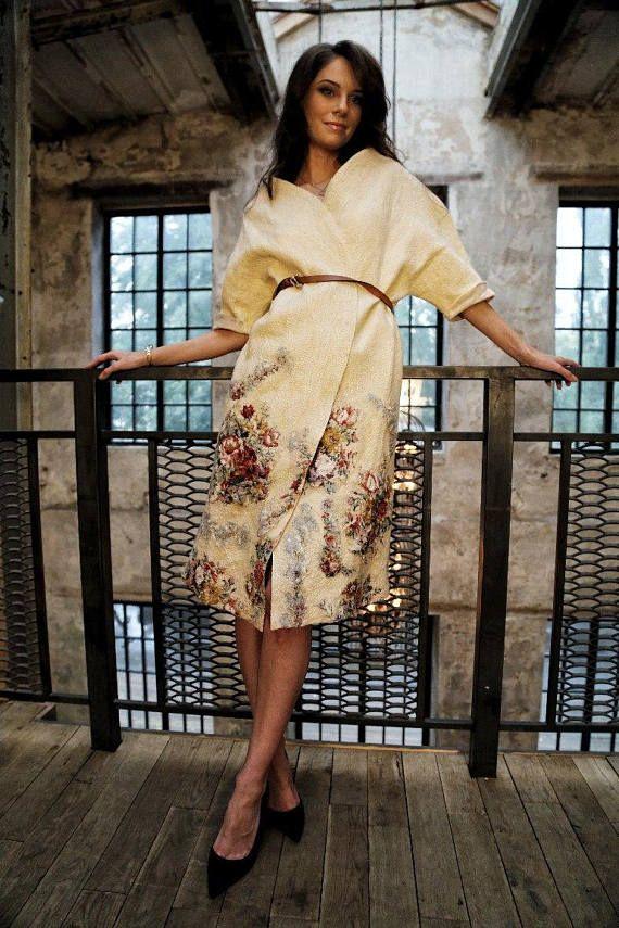 Felted dress Merino wool and silk