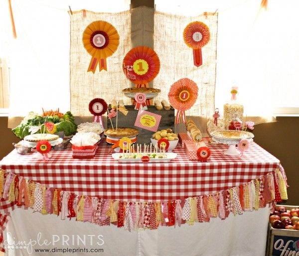 Fall Country or County Fair Sweetie Pie Birthday Party by DimplePrints