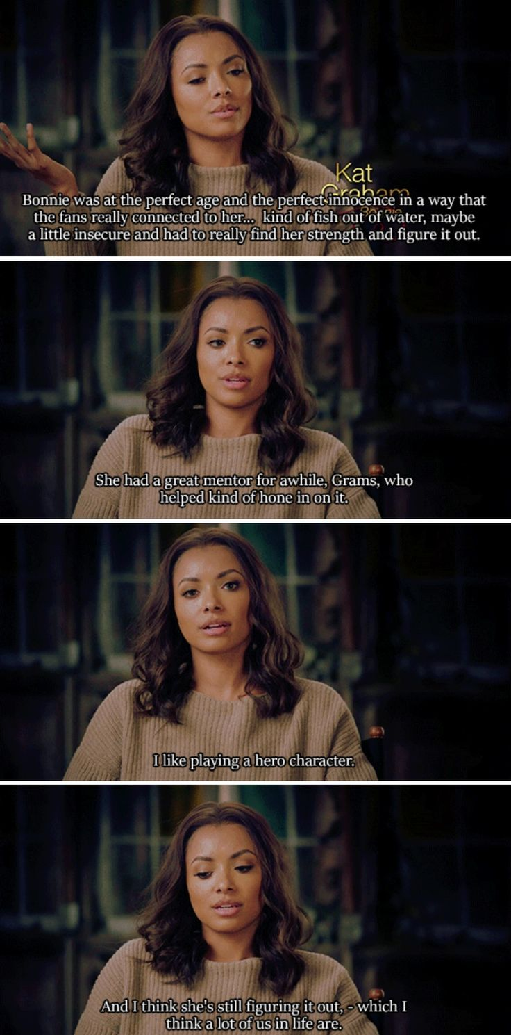 Kat Graham on Bonnie Bennett (The Vampire Diaries Special ~ Forever Yours)
